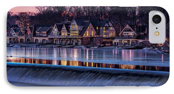 Boathouse Row IPhone Case by Susan Candelario