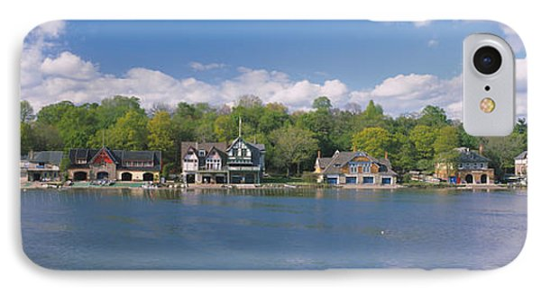Boathouses Near The River, Schuylkill IPhone Case