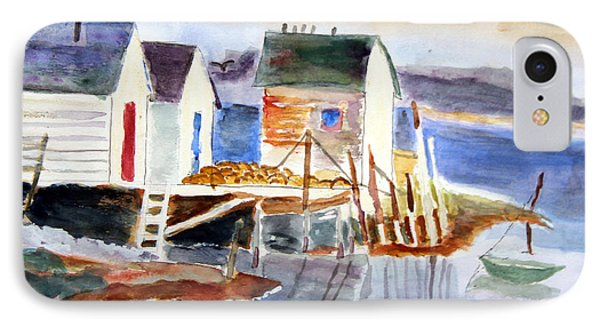 Boathouses On The Wharf IPhone Case