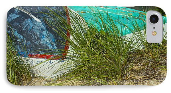 Boats And Beachgrass Phone Case by Amazing Jules