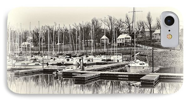 Boats And Cottages In B/w Phone Case by Greg Jackson