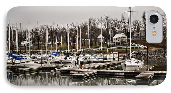 Boats And Cottages On Overcast Day Phone Case by Greg Jackson