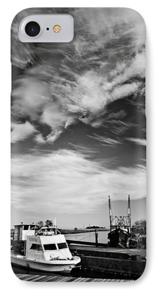 Boats And Sky Bw IPhone Case