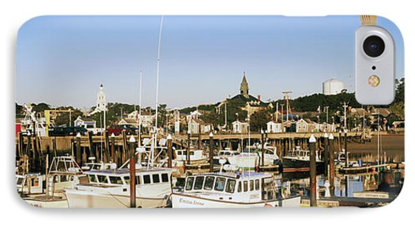 Boats At A Harbor, Cape Cod, Barnstable IPhone Case by Panoramic Images
