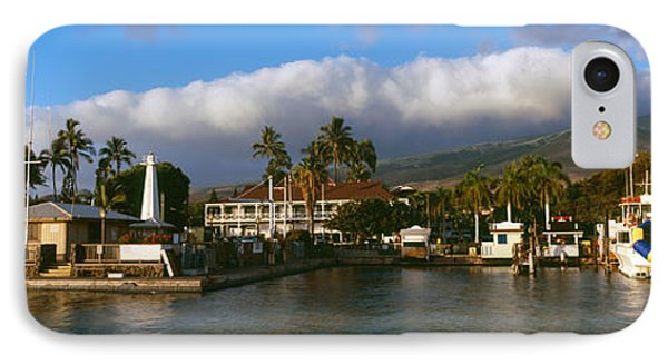 Boats At A Harbor, Lahaina Harbor IPhone Case by Panoramic Images
