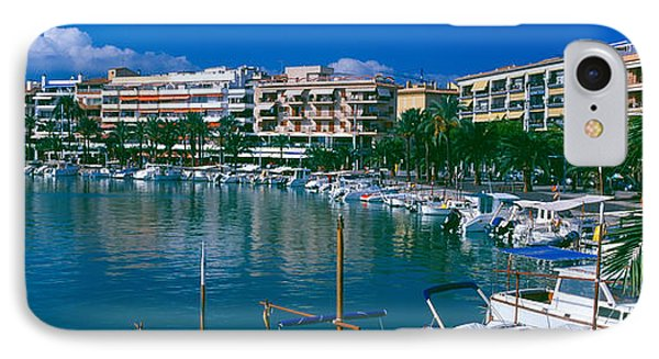 Boats At A Harbor, Majorca, Balearic IPhone Case by Panoramic Images