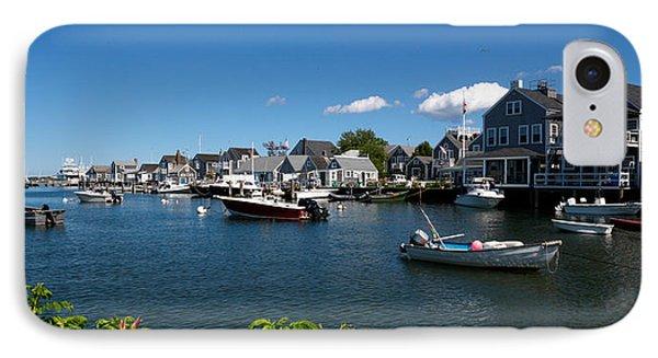 Boats At A Harbor, Nantucket IPhone Case