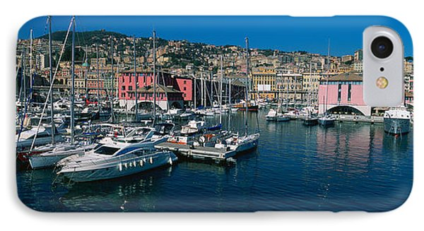 Boats At A Harbor, Porto Antico, Genoa IPhone Case by Panoramic Images