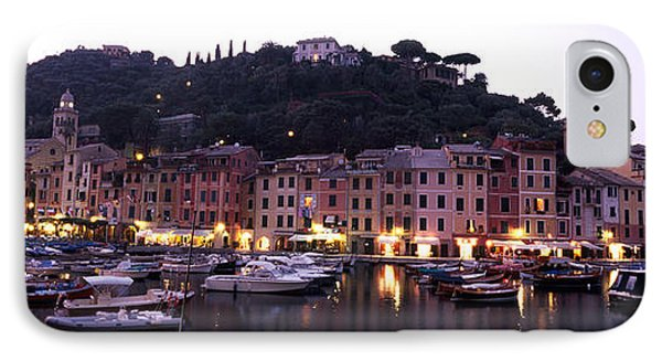 Boats At A Harbor, Portofino, Genoa IPhone Case by Panoramic Images