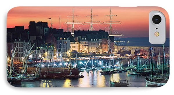 Boats At A Harbor, Rosmeur Harbour IPhone Case