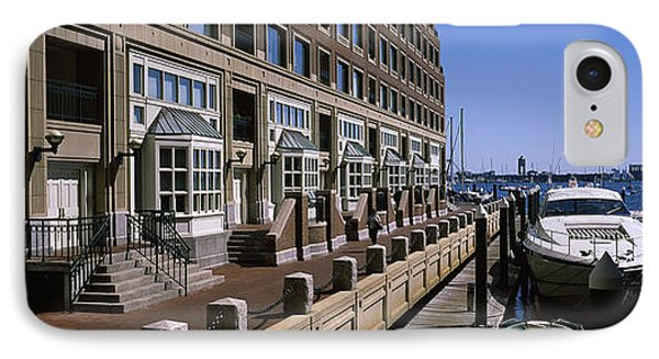 Boats At A Harbor, Rowes Wharf, Boston IPhone Case by Panoramic Images
