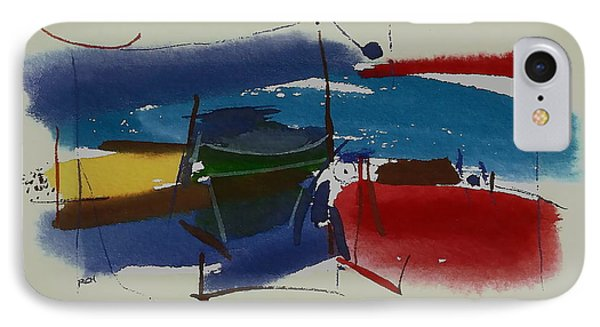 Boats At Dock IPhone Case by Richard Hinger