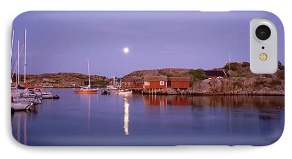 Boats At Harbor, Bohuslan, Gotaland IPhone Case by Panoramic Images