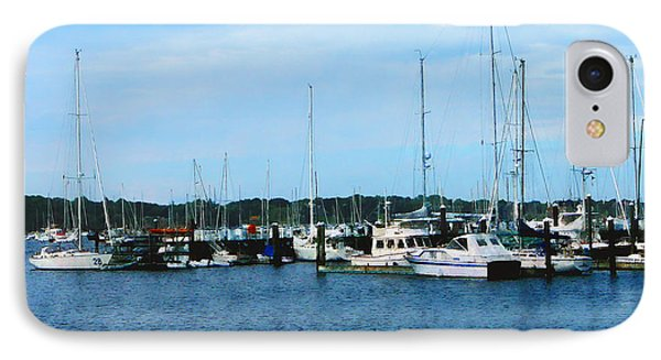 IPhone Case featuring the photograph Boats At Newport Ri by Susan Savad