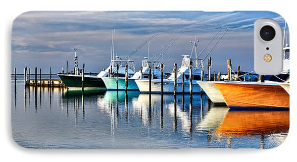 Boats At Oregon Inlet Outer Banks I IPhone Case