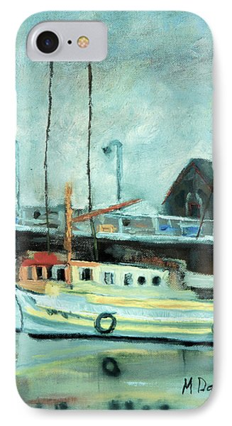 IPhone Case featuring the painting Boats At Provincetown Ma by Michael Daniels