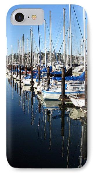 Boats At Rest. Sausalito. California. IPhone Case by Ausra Huntington nee Paulauskaite