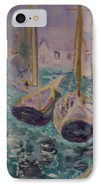 Boats At Sea IPhone Case by Aleezah Selinger