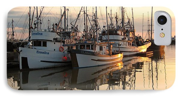 Boats At Steveston Harbour  IPhone Case by Shirley Sirois