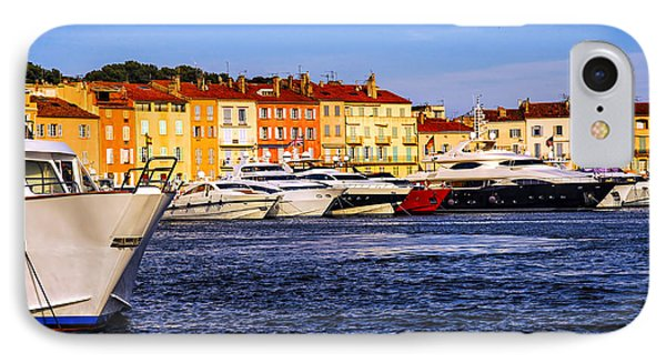 Boats At St.tropez Harbor Phone Case by Elena Elisseeva