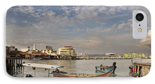 Boats At The Clan Jetty In Penang IPhone Case by Ivy Ho