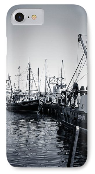 Boats At The Pier  IPhone Case