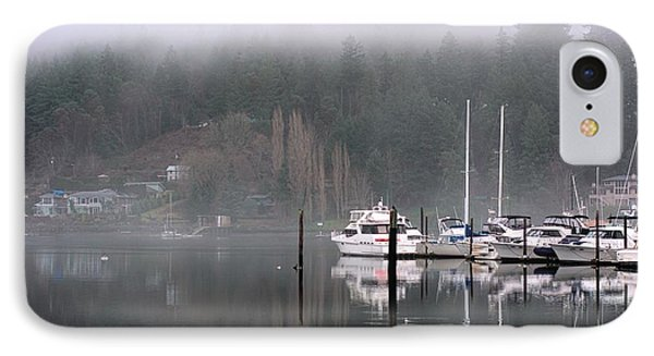 Boats Between Water And Fog IPhone Case by John Rossman