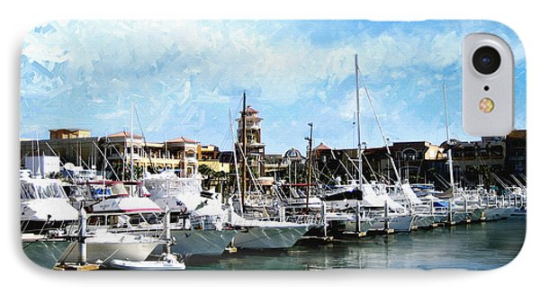 Boats Cabo San Lucas Phone Case by Ann Powell