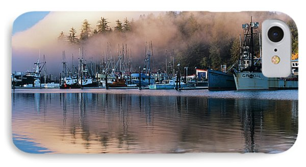 Boats Dock At Winchester Bay  Oregon IPhone Case by Robert L. Potts
