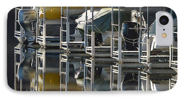 Boats Docked For The Winter IPhone Case by Lena Wilhite