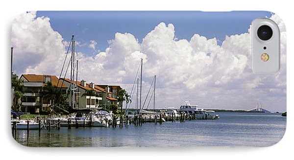 Boats Docked In A Bay, Cabbage Key IPhone Case by Panoramic Images