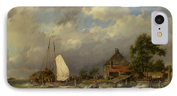 Boats Docking In An Estuary IPhone Case