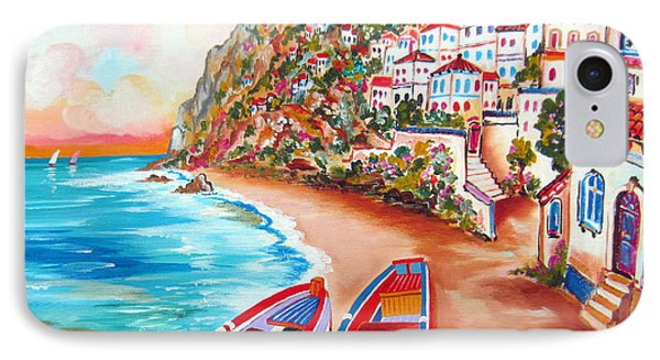 Boats Down The Amalfi Coast IPhone Case