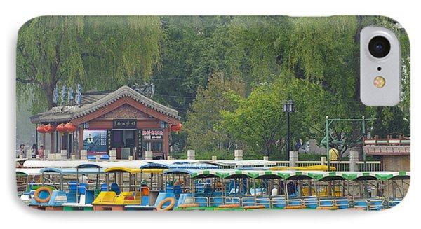 Boats In A Park, Beijing Phone Case by John Shaw