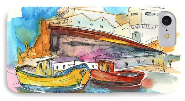 Boats In Ericeira In Portugal Phone Case by Miki De Goodaboom