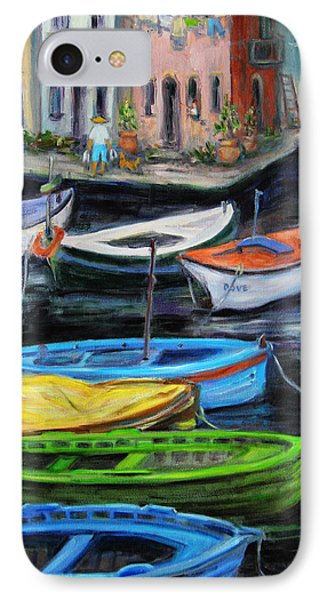 Boats In Front Of The Buildings II Phone Case by Xueling Zou