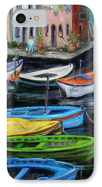 Boats In Front Of The Buildings II IPhone Case by Xueling Zou
