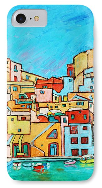 Boats In Front Of The Buildings Vii Phone Case by Xueling Zou