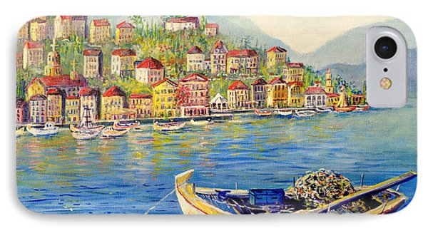Boats In Italy IPhone Case by Lou Ann Bagnall