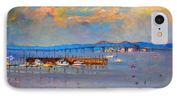 Boats In Piermont Harbor Ny IPhone Case by Ylli Haruni