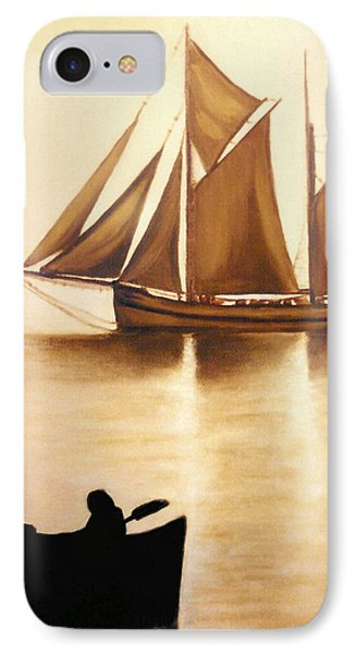 IPhone Case featuring the painting Boats In Sun Light by Janice Dunbar