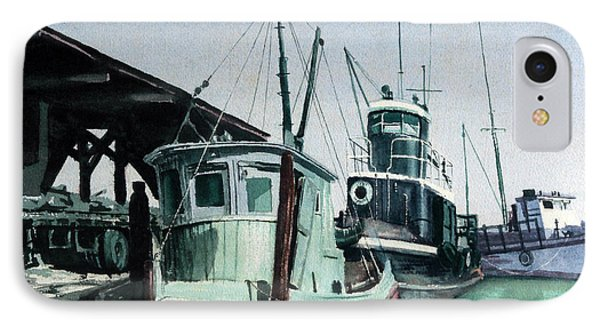 IPhone Case featuring the painting Boats by Joey Agbayani