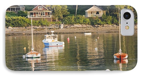 Boats Moored In Tenants Harbor Maine IPhone Case