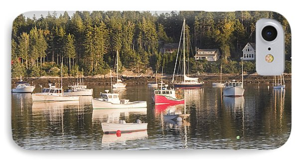 Boats Moored Intenants Harbor Maine IPhone Case