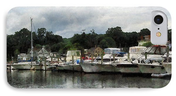 IPhone Case featuring the photograph Boats On A Cloudy Day Essex Ct by Susan Savad