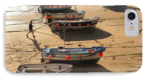 Boats On Beach IPhone Case by Pixel  Chimp