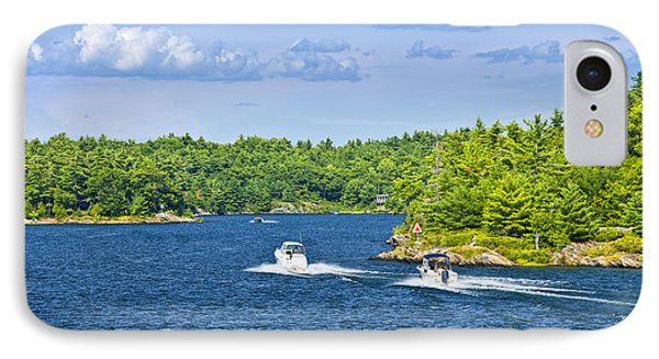 Boats On Georgian Bay IPhone Case by Elena Elisseeva