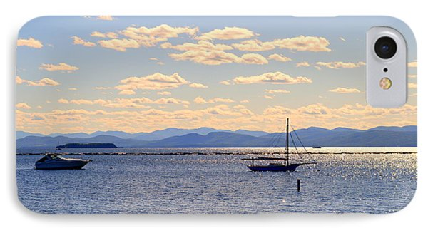 Boats On Lake Champlain Vermont IPhone Case by Catherine Sherman