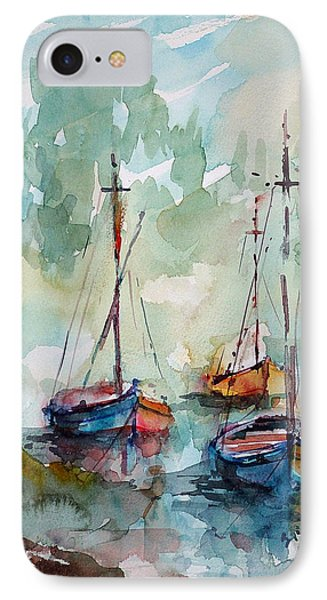 Boats On Lake  IPhone Case by Faruk Koksal