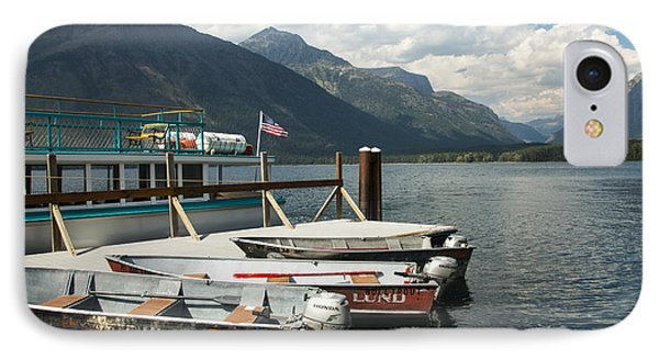 Boats On Lake Mcdonald IPhone Case